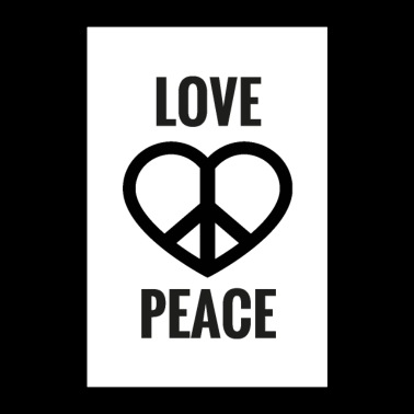 LOVE & PEACE - Poster 60x90 cm