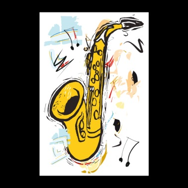 Sparkling Sax - Poster - Poster 24 x 35 (60x90 cm)