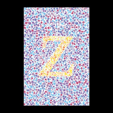 Z eye test - Poster 60x90 cm
