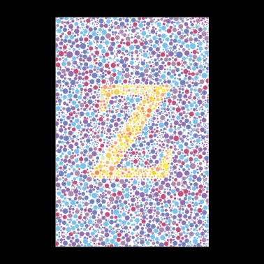 Z eye test - Poster 24 x 35 (60x90 cm)