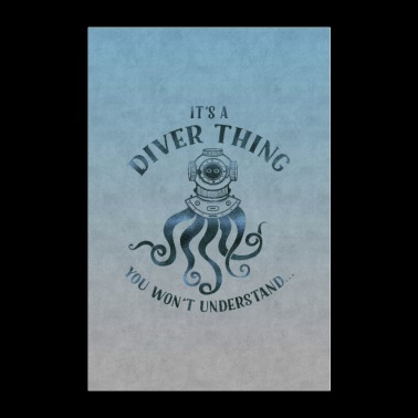 Diver thing - Poster 24 x 35 (60x90 cm)