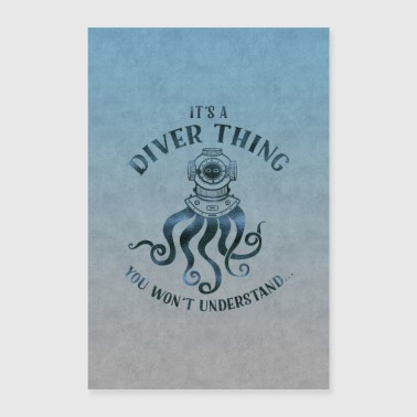 Diver Thing - Poster 60x90 cm