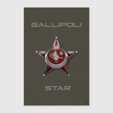 Harp Madalyası Iron Crescent Gallipoli Star - Poster 60x90 cm