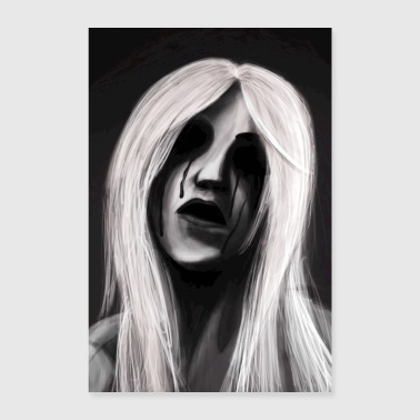 Gloomy Woman with Tears Gothic (Poster) - Poster 24 x 35 (60x90 cm)