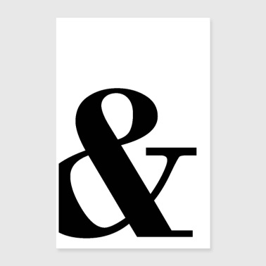 & Personnages Ampersand - Poster 60 x 90 cm