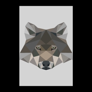 Wolf geometric gift wild animal dog - Poster 24 x 35 (60x90 cm)
