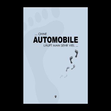 Without a car - Poster 24 x 35 (60x90 cm)