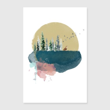 Forest on the moon - Poster 24 x 35 (60x90 cm)