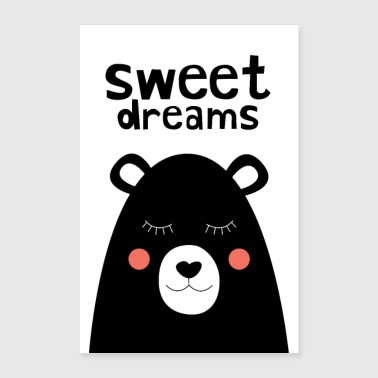 Sweet Dreams - Teddy Bear - Poster 24 x 35 (60x90 cm)