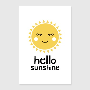 Hello Sunshine Yellow - Juliste 60x90 cm