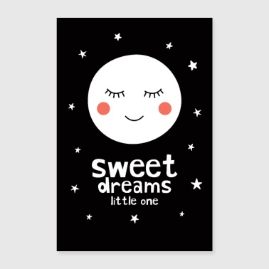 Sweet Dreams Little One - Moon - Poster 24 x 35 (60x90 cm)