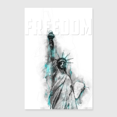 Freedom - Lady Liberty - Poster 60x90 cm