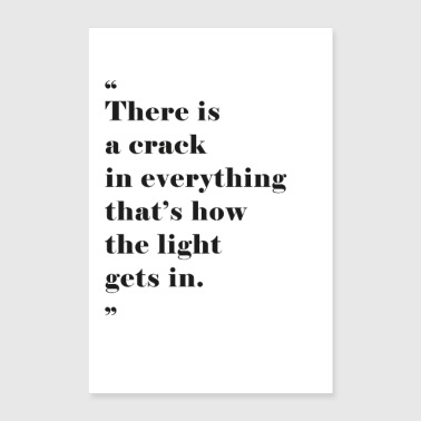 How the light gets in - Poster 24 x 35 (60x90 cm)