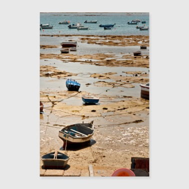 Fisherman boats on the beach of Cadice Andalucia - Poster 24 x 35 (60x90 cm)
