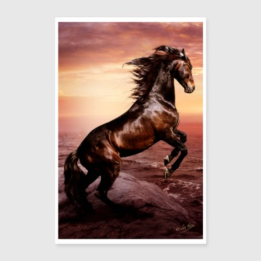 Wild horse, freedom and indomitable spirit - Poster 24 x 35 (60x90 cm)