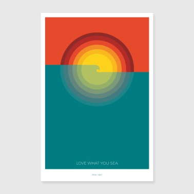 ONDE + SOLE # 2 - Poster 60x90 cm