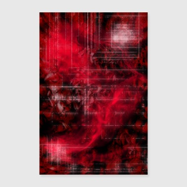 Digital Art - Rote Zone - Poster 60x90 cm