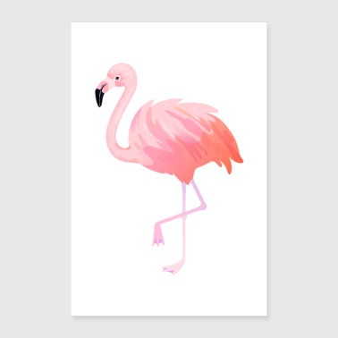 Illustration de Flamingo - Poster 60 x 90 cm