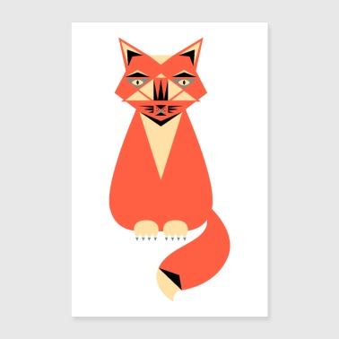 Illustration de chat - Poster 60 x 90 cm