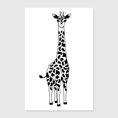 Illustration de la girafe - Poster 60 x 90 cm