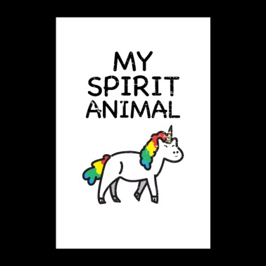 Spirit Animal Unicorn - Poster 24 x 35 (60x90 cm)