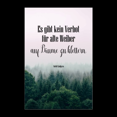 Quote Old women on trees - Poster 24 x 35 (60x90 cm)