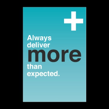 Always more than expected motivation quote - Poster 24 x 35 (60x90 cm)