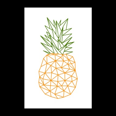 Pineapple vector polygon design - Poster 24 x 35 (60x90 cm)