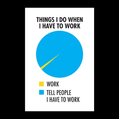 Things I Do When I Have To Work - Poster 24 x 35 (60x90 cm)