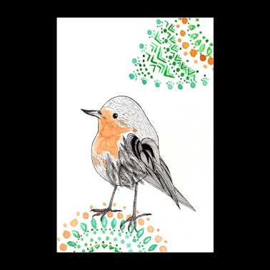 Robins poster - Poster 24 x 35 (60x90 cm)