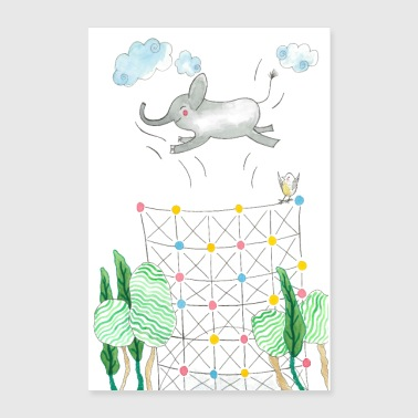 Gasometer Elephant Poster - Poster 24 x 35 (60x90 cm)