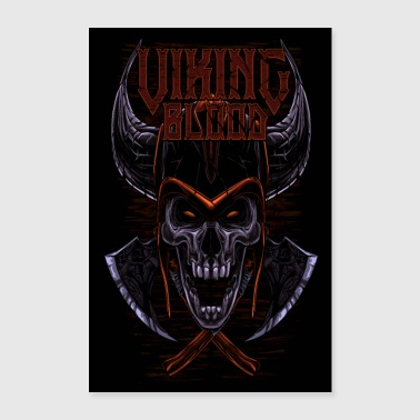 Viking Blood Odin Walhalla Viking Gift - Póster 60x90 cm