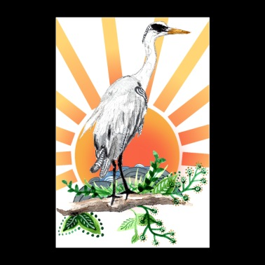 Great Blue Heron Poster Design - Poster 24 x 35 (60x90 cm)