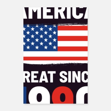Patriot Making America Great Siden 1990, USA flag Patriot - Poster