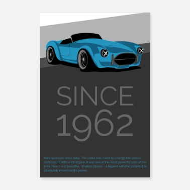 Tuning Cobra car cars tuning racing gift birthday - Poster