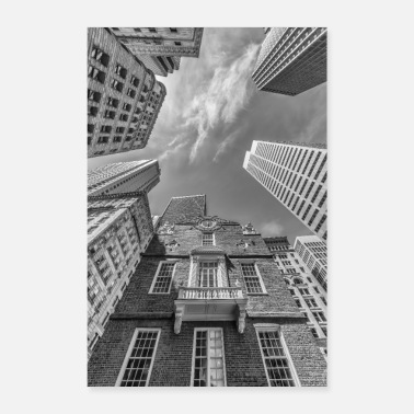 BOSTON Old State House | Monochrom - Poster