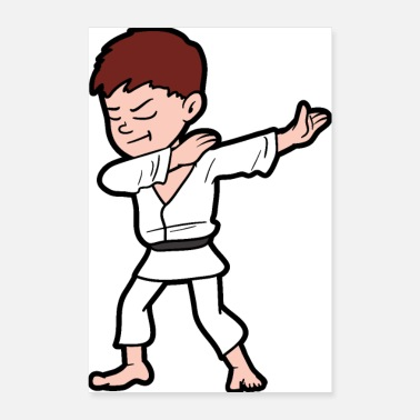 Kendo Dabbing Dab Dancing Karate Fighter Martial Arts - Poster