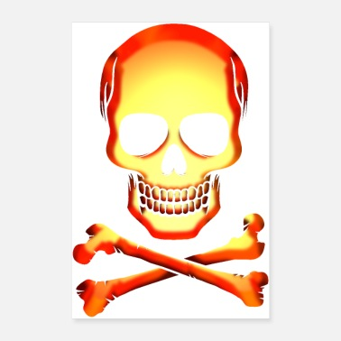 Bone Skull skull and bones Jolly Roger - Poster 16 x 24 (40x60 cm)