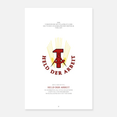 East Berlin Hero of work - Poster 16 x 24 (40x60 cm)
