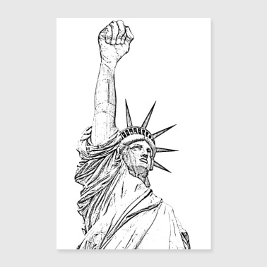 Statue of Liberty High Fist - Poster 16 x 24 (40x60 cm)