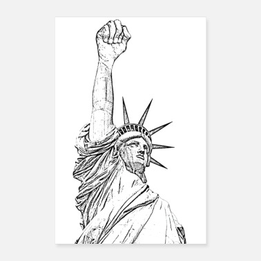 Fist Statue of Liberty High Fist - Poster 16 x 24 (40x60 cm)