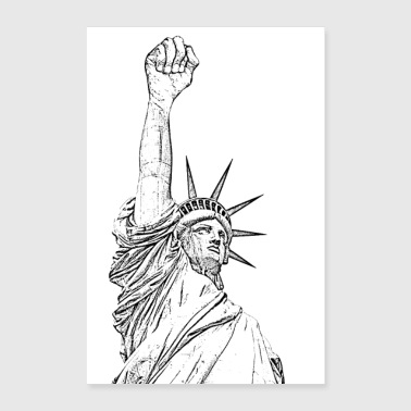 Statue of Liberty, fist held high - Poster 16 x 24 (40x60 cm)