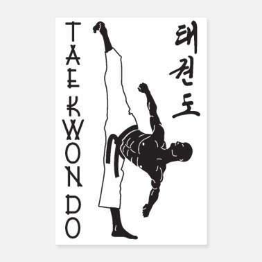 Taekwondo taekwondo man right 2 3 UK 01 - Poster 16 x 24 (40x60 cm)