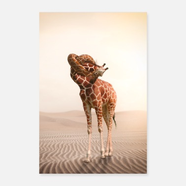 Funny Collection V2 Giraffe with a knot in the throat - Poster