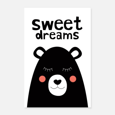 Babyparty Sweet Dreams - Teddy Bear - Poster 40x60 cm