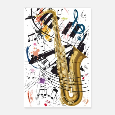 Jazz Sax & Piano - Poster - Poster