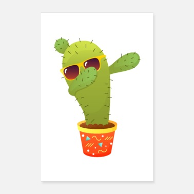 Trend Cactus Dabbing Dab Dance - Poster