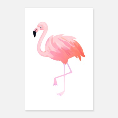 Flamingo Flamingo illustration - Poster