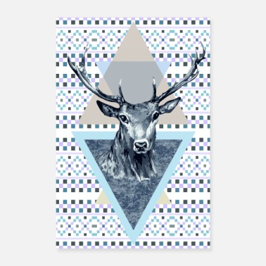 Horns Deer king of the forest - Poster 16 x 24 (40x60 cm)