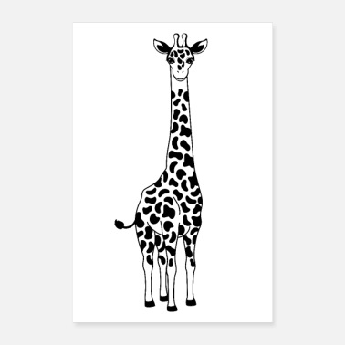 Illustratie &amp Giraffe illustratie - Poster